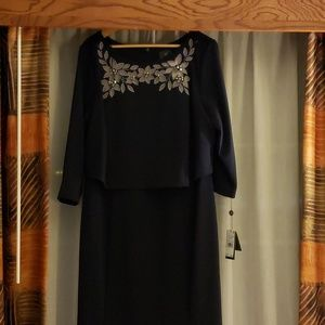 Adrianna Papell navy dress